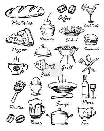Illustration for Menu icons - Royalty Free Image
