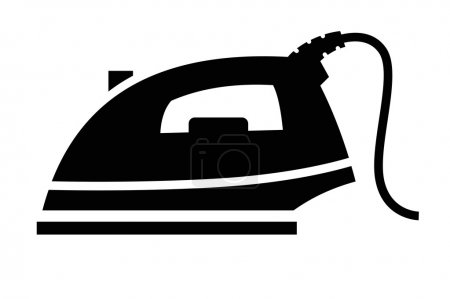 Steam iron icon...