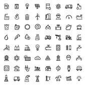 Vector black energy icons set