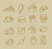 Vector hand drawn food