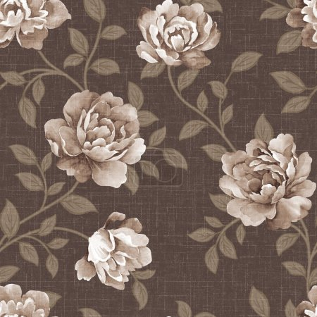 Photo for Featured flowers seamless pattern background - For easy making seamless pattern use it for filling any contours - Royalty Free Image