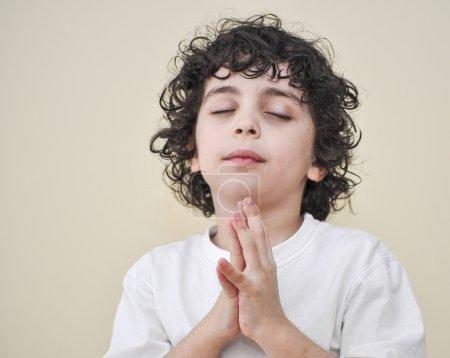 Hispanic Child Praying