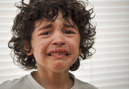 Hispanic Child Sad and Crying