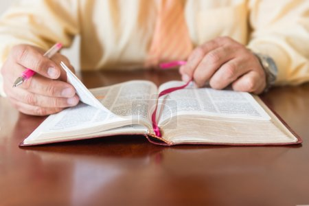 Bible study by a man of God or Pastor