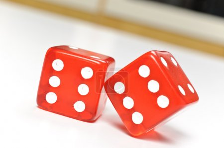 Macro red dices