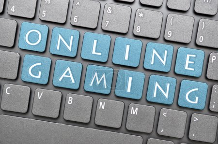 Photo for Blue online gaming key on keyboard - Royalty Free Image