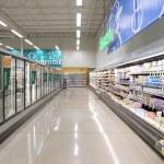 Frozen foods in supermarket