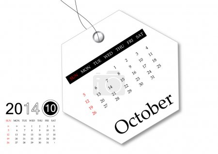 October of 2014 calendar