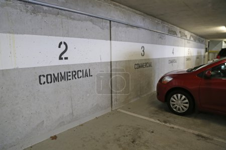 Underground commercial parking