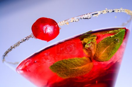 Photo for Close-up image of a red martini cocktail - Royalty Free Image