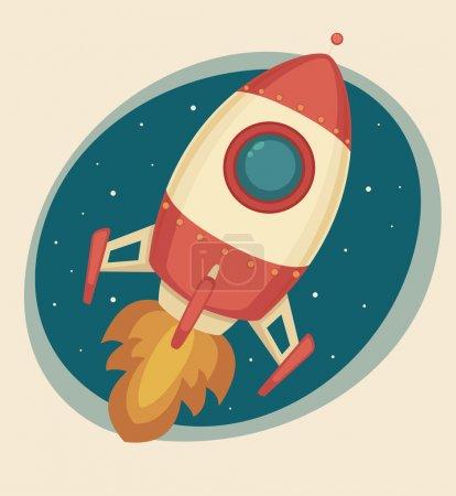 Illustration for Retro Rocket - Royalty Free Image