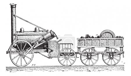 Grawerowanie rakiecie Stephensona, vintage