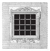 Mezzanine vintage engraving