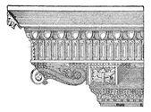 Corbel, vintage engraving