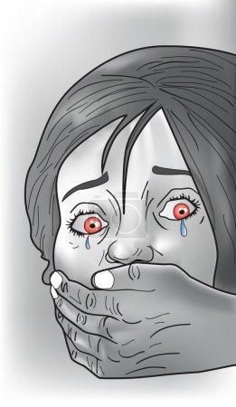 Kidnap victim, illustration