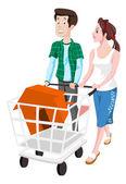 Couple Buying a House illustration