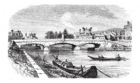 Clamecy Bridge in Nievre France