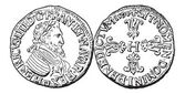 Coin Currency Henry IV of France vintage engraving