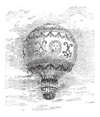 Montgolfier Hot Air Balloon vintage engraving