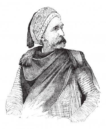Moor, vintage engraving