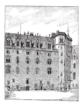 Castle of the Dukes of Brittany, Nantes, Pays de la Loire, Franc