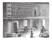 Orleans Method of Vinegar Manufacturing vintage engraving