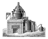 Concentration of Sulfuric Acid vintage engraving