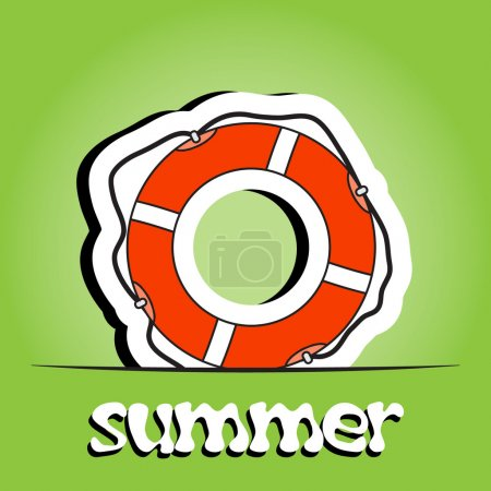Summer background with ring-buoy