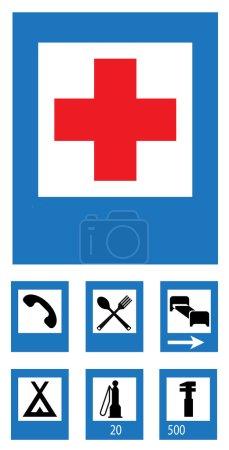 Foto de Icono conjunto de señales de tráfico - Imagen libre de derechos