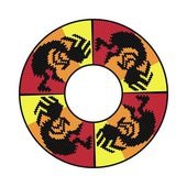 Circle ornament Round frame rosette Native american (indian) round pattern vector