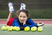 Outdoor Tennis Fun for Girl