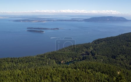 San Juan Islands and Twin Lakes in Washington State on a summer