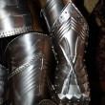 Medieval warrior soldier metal protective wear...