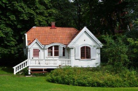 Small white house...