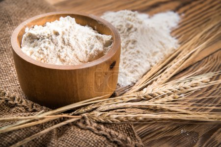 Photo for Flour from durum wheat - Royalty Free Image