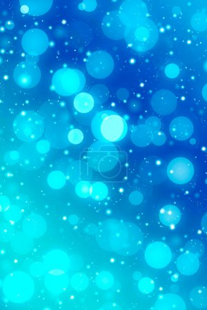 blue background with bulbs