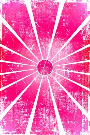 Pink grunge sun background