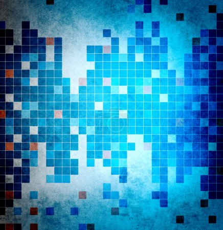 Abstract cold mosaic background