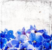 "Постер, картина, фотообои ""Гранж-фон цветы"""