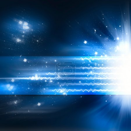 Abstract shine background with motion radiance star