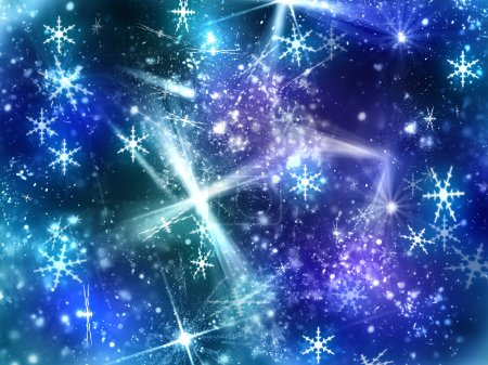 Abstract shine background with snowflake
