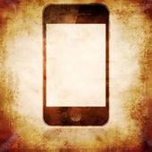 Grunge mobilní telefon plakát