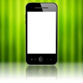 Mobilní telefon na zelené