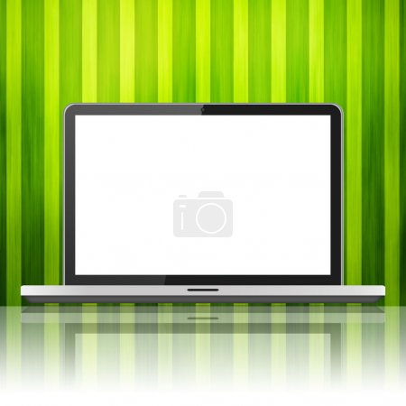 Photo for Laptop isolated on colour background - Royalty Free Image