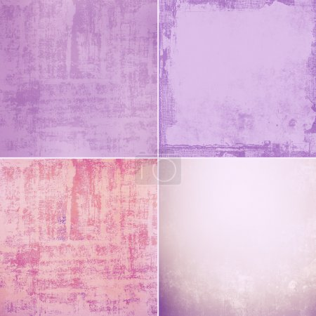 Photo for Grunge wall texture background set - Royalty Free Image