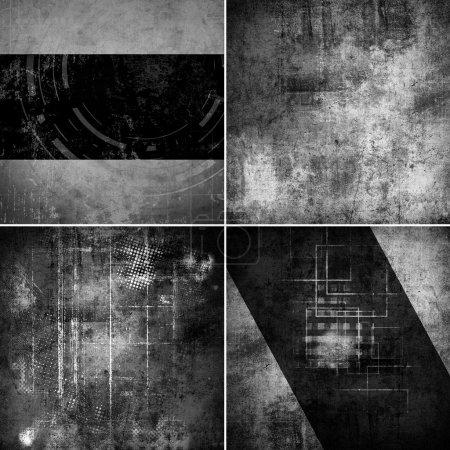 Photo pour Ensemble de fond de texture murale Grunge - image libre de droit