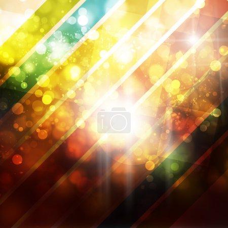 Foto de Fondo abstracto bokeh con rayas - Imagen libre de derechos
