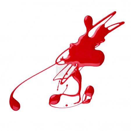 Photo pour Taches de vernis à ongles rouge isolé sur fond blanc - image libre de droit