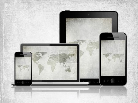 Tablet pc, laptop and mobile phones