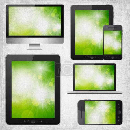 Tablet pc, mobile phone, notebook and hd tv